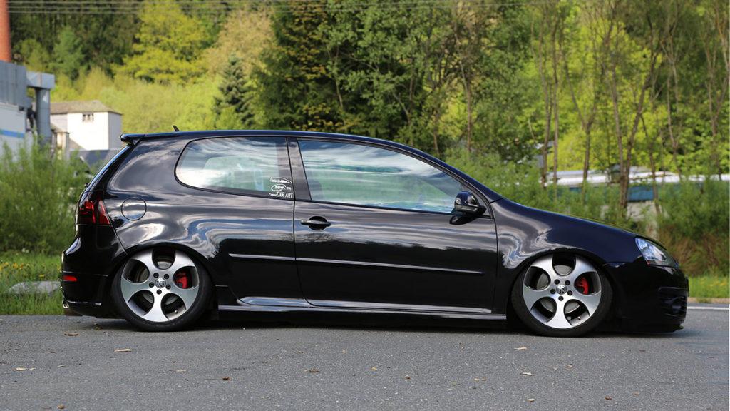 digitale Fahrzeug Tieferlegung Golf V GTI Fake Garage