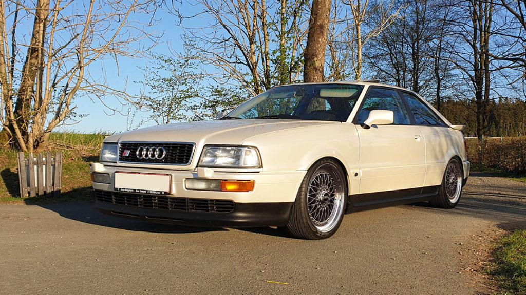 Audi S2 Coupe tiefer gelegt und Felgen Photoshop
