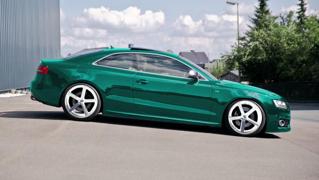 Farbwechsel Fotomontage Audi S5 Fake Garage